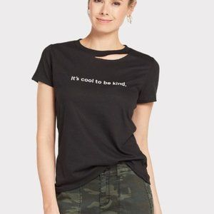 It's Cool To Be Kind Distressed Tee Size M Black